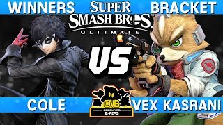 Smash Ultimate Tournament Set - Cole (Joker) vs Vex Kasrani (Fox) - CNB 184