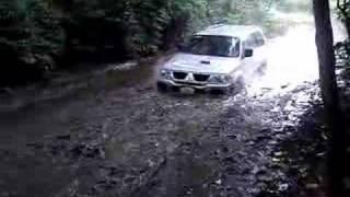 Montero Sport mud crossing