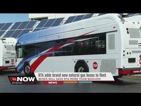 RTA unveils brand new compressed natural gas buses Tuesday