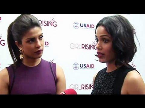 Priyanka Chopra, Freida Pinto on