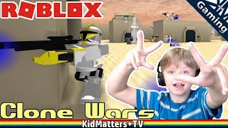 Droids, Clones and Blasters, OH MY! Roblox Clone Wars - (2012 version) [KM+Gaming S01E46]