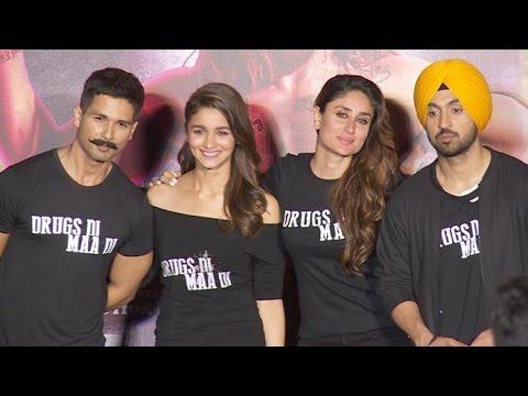 UNCUT : Udta Punjab Trailer Launch | Shahid Kapoor, Alia Bhatt, Kareena Kapoor, Diljeet