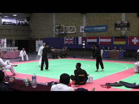 Gym Fist and Kick- SiGePi Pencak Silat Belgium Open 2013 Final Fights 2