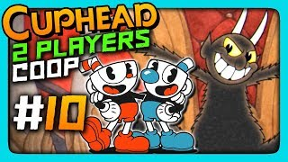 Cuphead 2 PLAYERS CO-OP Прохождение #10 ✅ ДЬЯВОЛ ОГРЕБАЕТ!