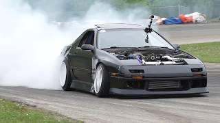 Drift Team Ghost - FC RX7s and S14 240SX - RAW - No Music
