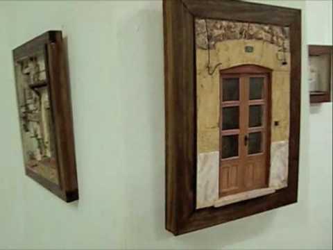 Exposici n de cuadros en relieve en molta barra youtube - Cuadros con relieve modernos ...