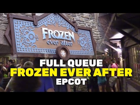 "NEW ""Frozen Ever After"" full ride queue walkthrough at Epcot Norway, Walt Disney World"
