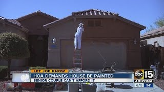 HOA demands house be painted