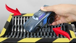 Experiment Shredding Disney Cars 3 Jackson Storm And Toys | The Crusher