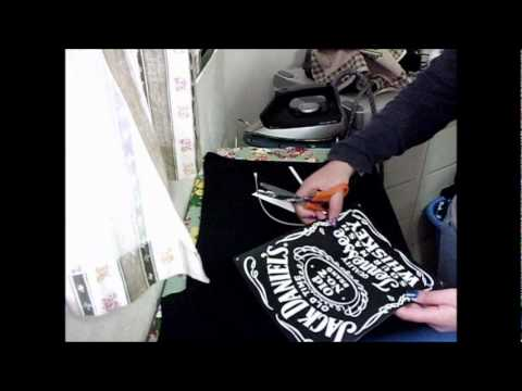 How To Do Jack Daniel's T-Shirt Emblazoned ♥ Music Videos