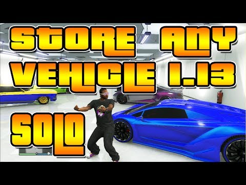 *PATCHED* Store Any Car after Patch 1.13 - 1.14 - Store Super Cars, SP to MP Cars - GTA 5 Online