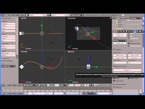 Blender 2.5 Animation - An Object Following a Path (Guide, Motion Path) New Version