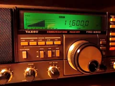 Radio Libya, 11600 Khz, received with a Yaesu FRG 8800 in Germany