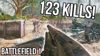 BATTLEFIELD 1 123 KILLS RECORD for Argonne Forest! [STREAM QUALITY] BF1 Shotgun Gameplay