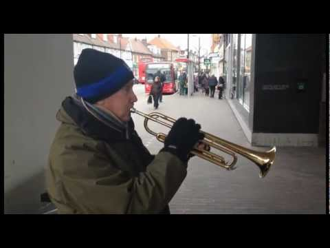 Tim Parfitt meets Duncan Raban in Orpington, Kent, while busking in Jan 2012