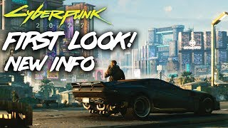 Cyberpunk 2077 First Look! NEW INFO Trailer Analysis, Character Details, Story, Night City and more!