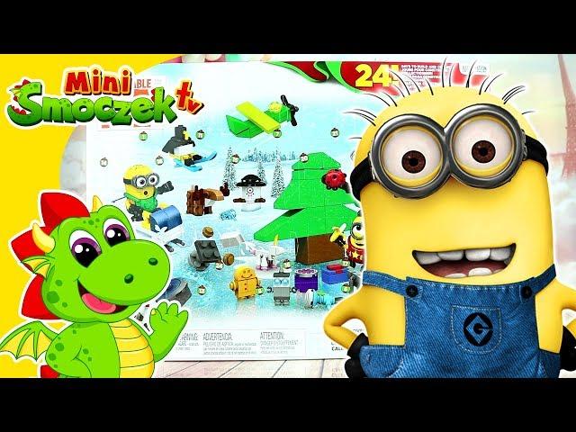 Minionki Kalendarz Adwentowy Zabawki Niespodzianki Klocki Mega Bloks Dla Dzieci Na Święta