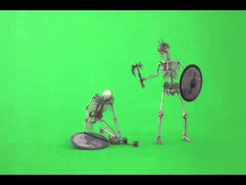 Green Screen FX, Warrior Skeletons 320p thumbnail