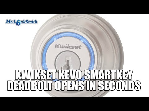 Kwikset Kevo SmartKey Deadbolt Opens in Seconds   Mr Locksmith Video
