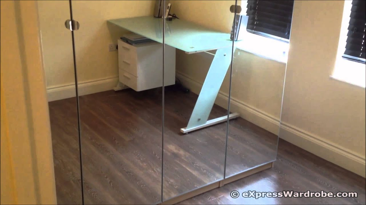 ikea pax vikedal mirror door wardrobe design youtube. Black Bedroom Furniture Sets. Home Design Ideas