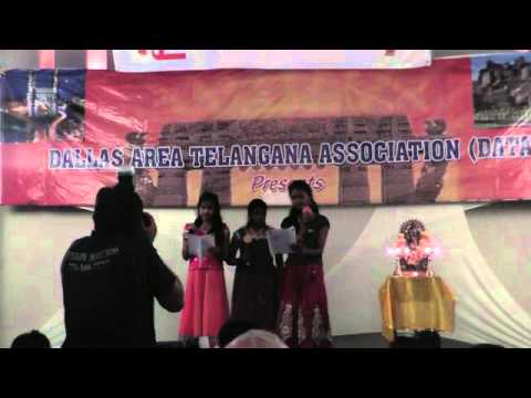 Gajeshanaya Song by Shreya Shreya and Dhyuthi at DATA Telangana...