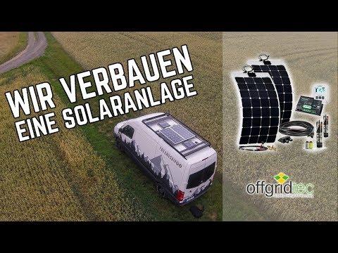 Wir verbauen eine Offgridtec 220W Solaranlage auf unserem DIY Campervan