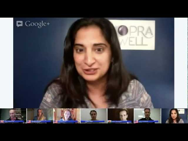 STRESS REDUCTION TIPS for 2013 | Google+ Hangout with Panel of Experts - Deepak Chopra