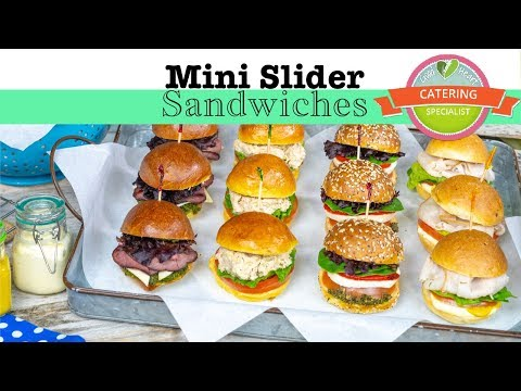 Mini Slider Sandwiches for catering delivery in Los Angeles by Good Heart Catering