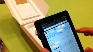 KINDLE FIRE!!! (review, unboxing and demonstration of the new tablet)