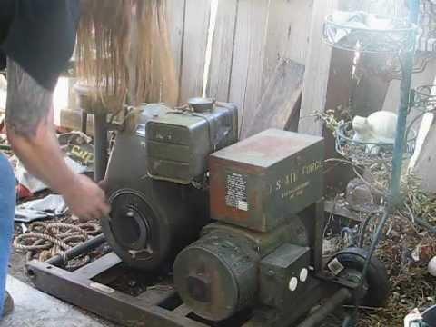1940s Signal Corps model PE-75 generator set