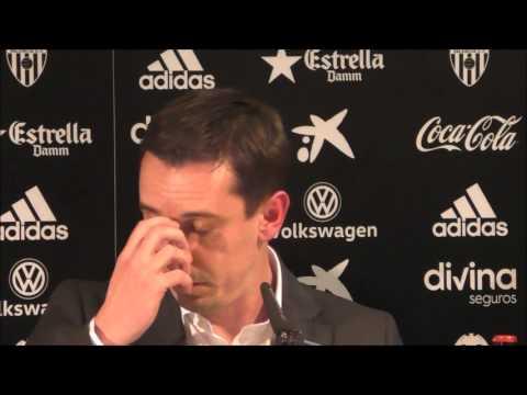 Gary Neville rueda de prensa presentación como técnico del Valencia CF
