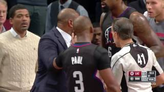 Doc Rivers Gets Ejected From Game  -  Clippers vs Nets  -  November 29, 2016 -  2016/ 17 NBA Season