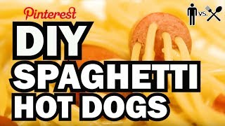 DIY Spaghetti Hot Dogs - Man Vs Din #1