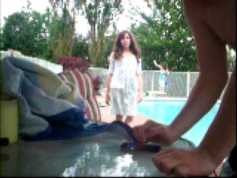 emma falling in the pool