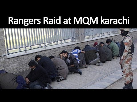 Dunya News | Rangers raid MQM headquarters Nine Zero in Karachi