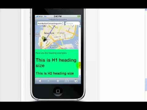 EzMobileSiteGenerator – Mobile Website Design – Page Layout Demo