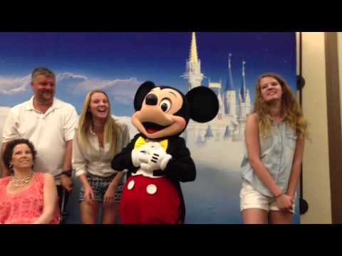 Chandler Family Meets Mickey