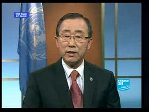 Ban Ki-moon, secretary general of the UN