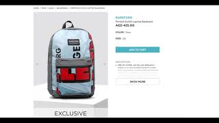 RAREFORM Printed Stylish Laptop Backpack AED 435.00 Grey    OS    ADD TO CART