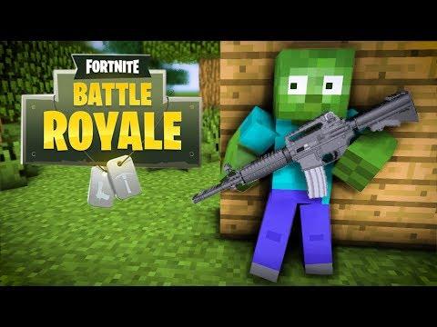 Monster School : Fortnite Battle Royale Challenge - Minecraft Animation