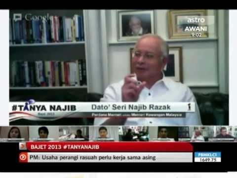 Bajet 2013 Khas: Tanya Najib [Secara Langsung]