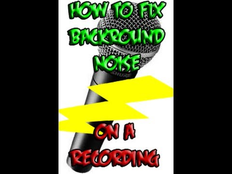 How To Get Rid Of Microphone Backround Noise / Buzz / Hiss / Humming ( When Recording )