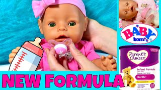 🍼Baby Born Gemma Tries New Baby Formula! Organizing Baby Items In Badger Basket Doll Care Station!