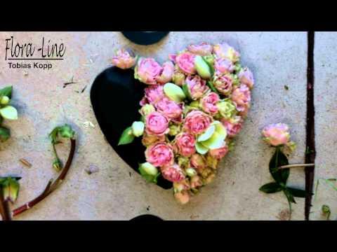 Tutorial: Ein Rosenherz Aus Rosa Polyantha Rosen Entsteht