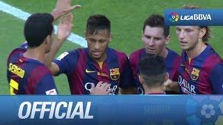 Neymar marca su primer hat-trick en la Liga BBVA