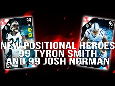 2 New 99 Positional Heroes! 99 Josh Norman! 99 Tyron Smith! ::-XBOX ONE Madden 16 Ultimate Team