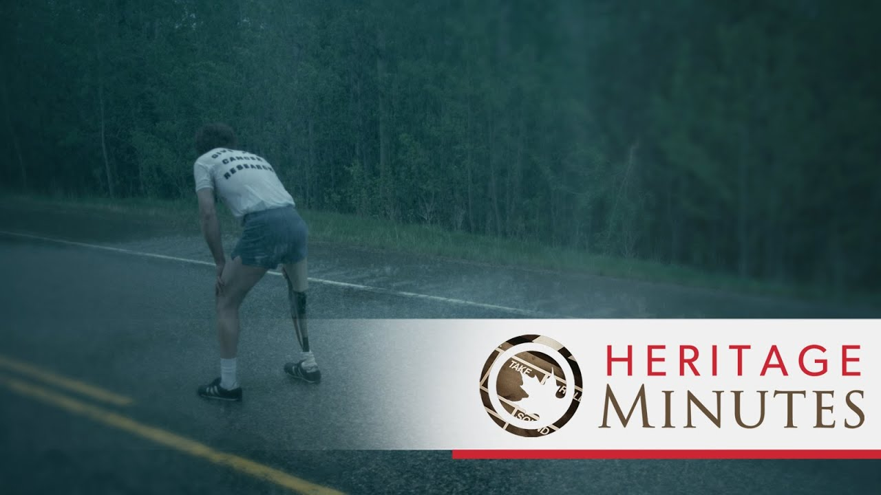 [Terry Fox Crossed Half Of Canada With One Leg For Cancer Research] Video