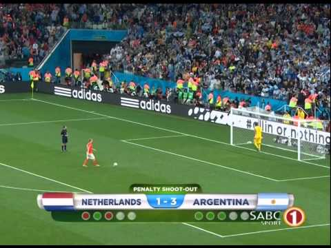 Argentina vs Netherlands Penalty Shootout 4-2 Match Fifa World Cup 2014