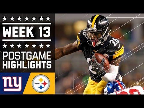 Giants Vs Steelers Nfl Week 13 Game Highlights