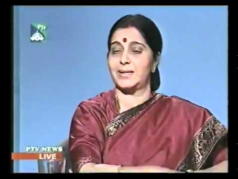 PTV Interview  with Smt. Sushma Swaraj:  8.03.2002